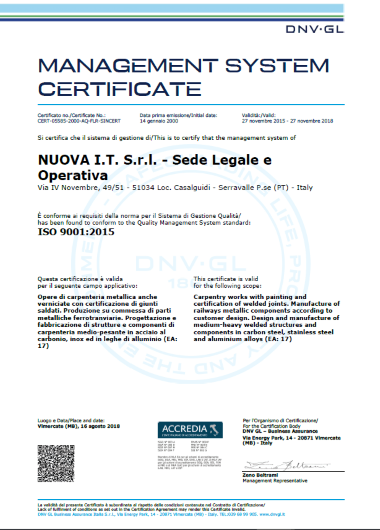 ISO 9001 2015 NUOVA IT